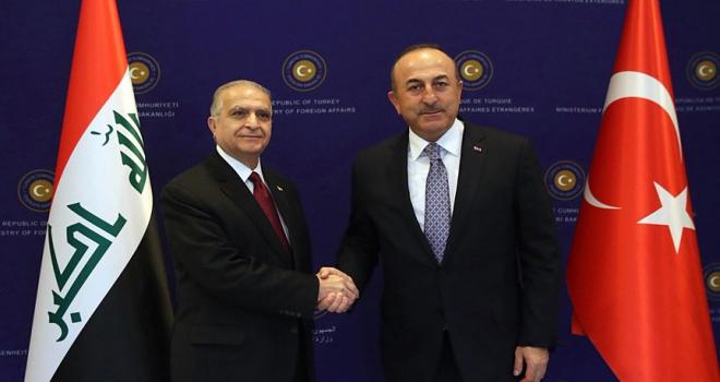 Çavuşoğlu Irak Dışişleri Bakanı Hakim ile bir araya geldi