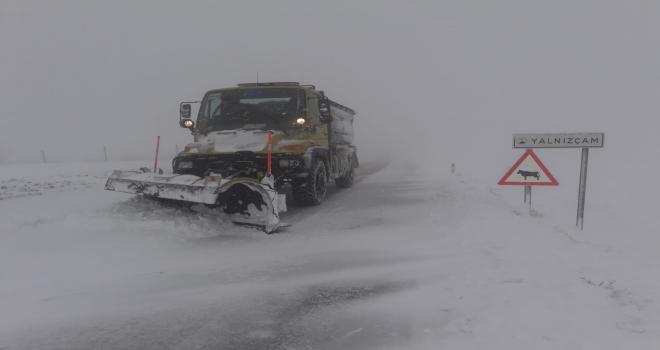 Ankarada karla mücadele