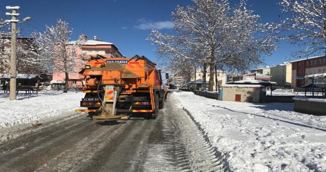 Beyşehir Belediyesinden karla mücadele seferberliği
