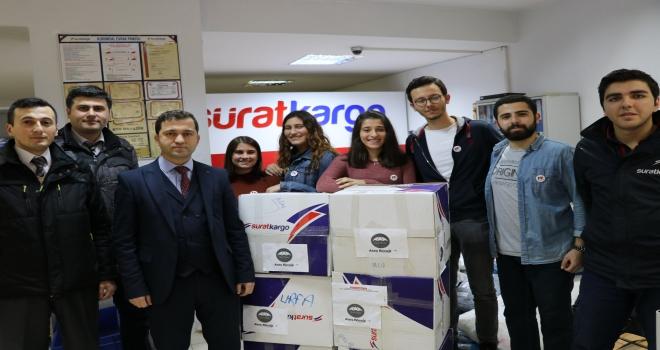 Sürat Kargodan köy okulları yardım gönderilerine destek