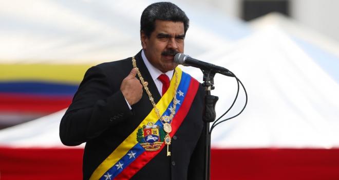 Venezuela Devlet Başkanı Maduro: Guaidonun geçici devlet başkanlığını ilan etmesi yargının elinde