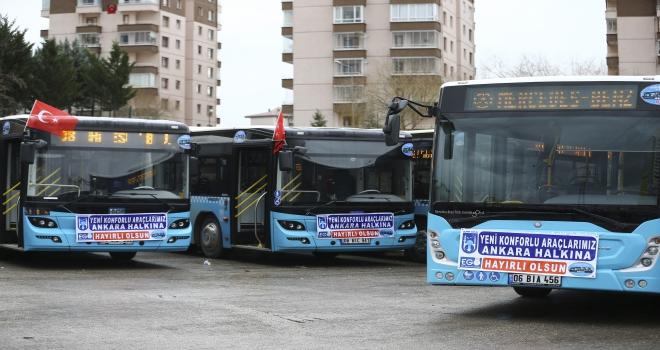 Beyaz toplu taşıma araçlarının yerini mavi halk otobüsleri alıyor