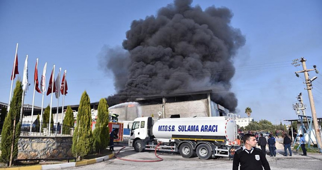 MersinTarsus OSBde yangın