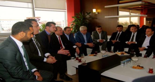 AK Partili yöneticilerden Eskişehirspora ziyaret
