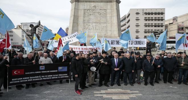 Kırım Tatarları Rusyanın Kırımı yasa dışı ilhakını protesto etti