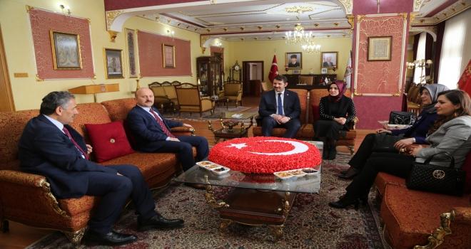 Samsun ve Amasya valilerinden Sivas ziyareti