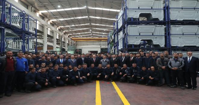 Varank, Aksaray sanayi sitesinde açılışa katıldı