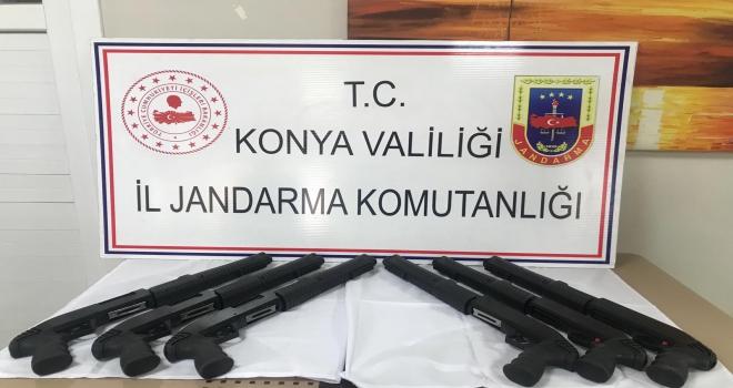 Beyşehirde jandarmadan silah operasyonu