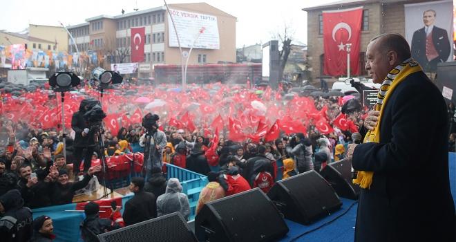 Cumhurbaşkanı Erdoğan: CHP ve onun ruh ikizi HDPye rağmen yatırımlarımıza devam edeceğiz
