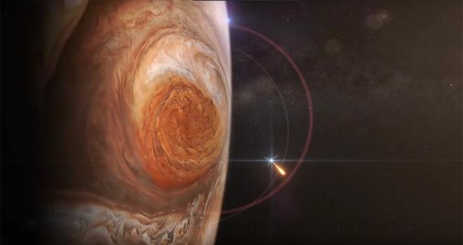 Juno uydusu Jüpiterin Büyük Kırmızı Lekesini fotoğrafladı