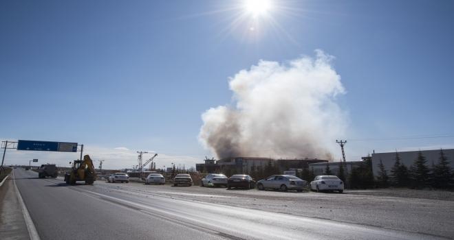 Kahramankazanda fabrika yangını