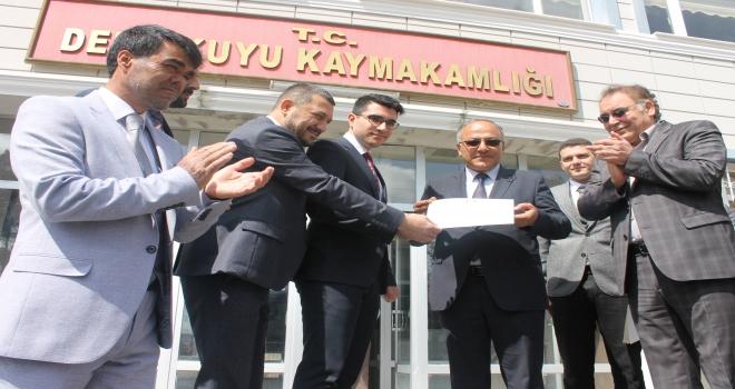 Derinkuyu Belediye Başkanı Aksoy mazbatasını aldı