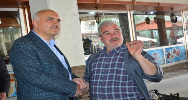 Kızılcahamam Belediye Başkanı Acardan pazar ziyareti