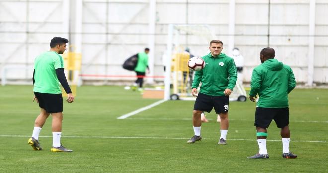 Konyasporda MKE Ankaragücü maçı hazırlıkları