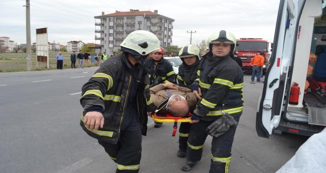 Aksarayda trafik kazası: 3 yaralı