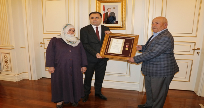 Yozgatta Devlet Övünç Madalyası ve Beratı töreni