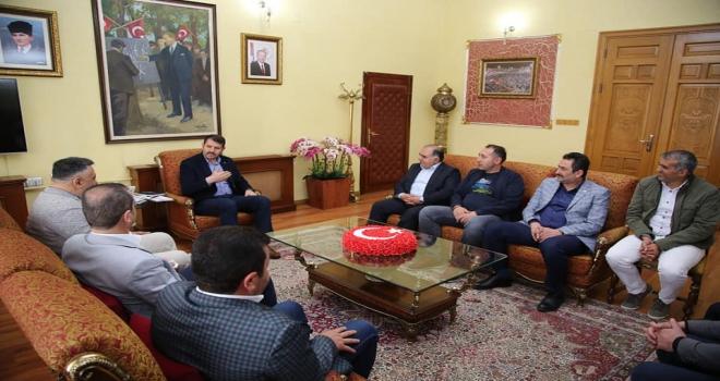 Sivas Belediyespor yönetiminden Vali Ayhana ziyaret