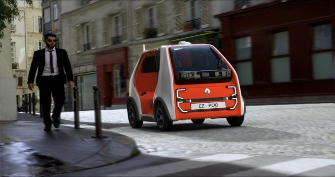Renaulttan hızlı ulaşım ve kurye hizmetine yönelik konsept araç