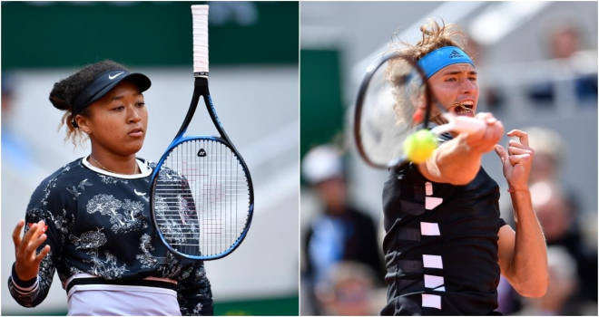 Fransa Açıkta Osaka ve Zverev 2. turda