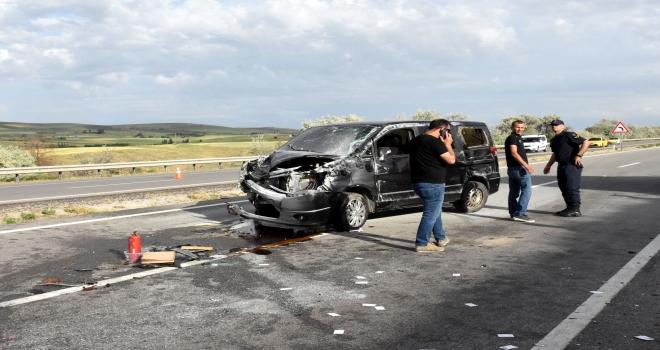 Kırıkkalede trafik kazası: 6 yaralı