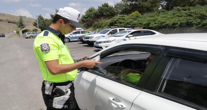 Yozgatta drone destekli trafik kontrolü