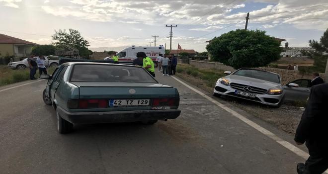 Konyada trafik kazası : 6 yaralı