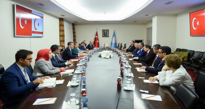 Bakan Selçuk, KKTC Eğitim ve Kültür Bakanı Çavuşoğlu ile görüştü