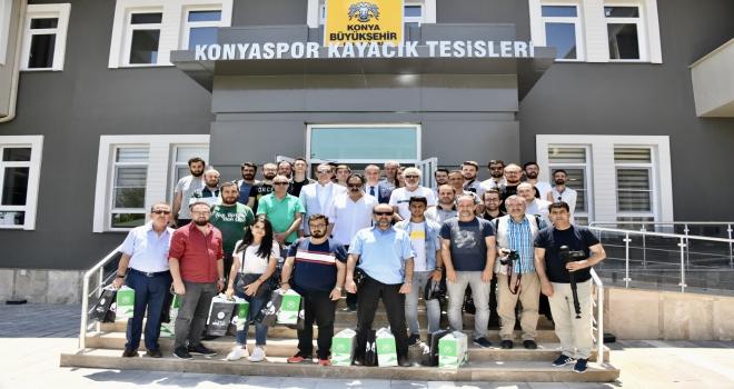 Konyasporun yenilenen tesisleri tanıtıldı