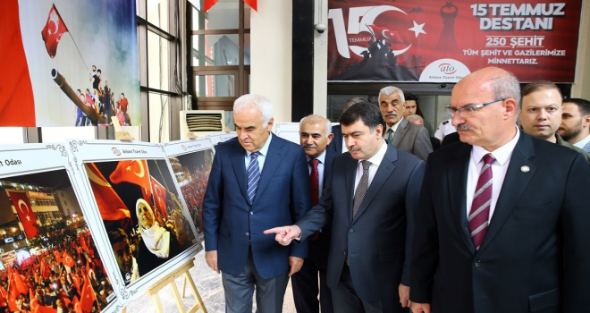 AAnın 15 Temmuz fotoğraflarından oluşan sergi ATOda açıldı