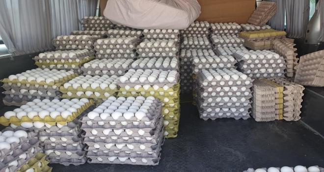 Beypazarına kaçak getirilerek satılmaya çalışılan yumurtalar imha edildi