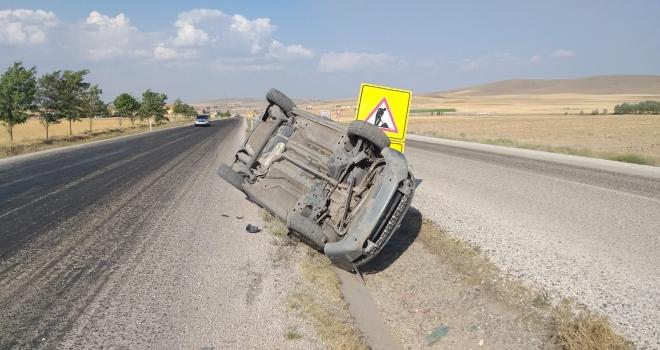 Aksarayda otomobil devrildi: 6 yaralı