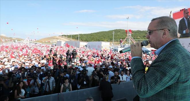 Cumhurbaşkanı Erdoğan: Şimdi de Fıratın doğusuna gireceğiz