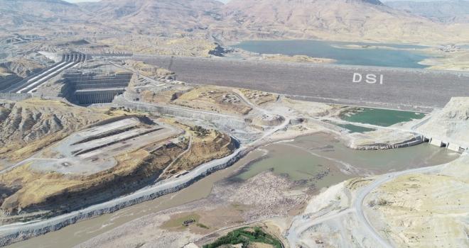 Ilısu Barajında su tutma testleri başladı