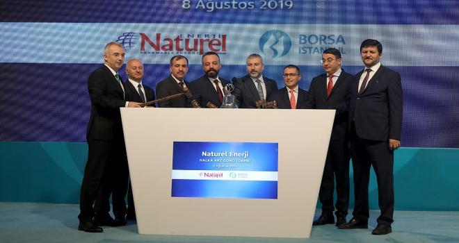 Borsa İstanbulda gong Naturel Enerji için çaldı
