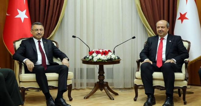 Cumhurbaşkanı Yardımcısı Oktay: Şartlar ne olursa olsun Türkiye ve Türk halkı sizlerle birlikte
