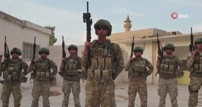 Tel Abyad'taki askerlerimizden milli sporculara mesaj