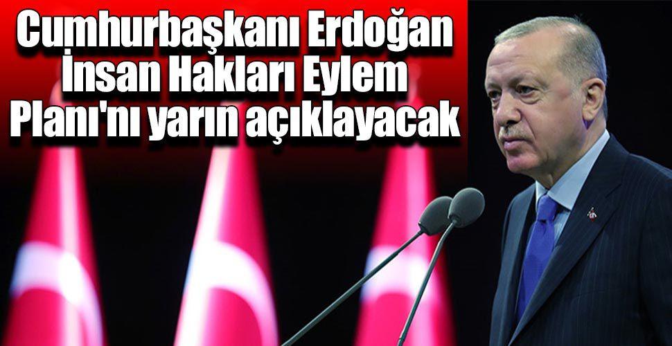 Erdoğan İnsan Hakları Eylem Planı'nı yarın açıklayacak
