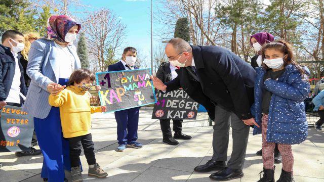 Meram Belediyesi'nden özel çocukları sevindiren sürpriz