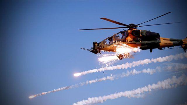 Tel Rıfat'ta teröristlere ait hedefler TSK tarafından vuruldu