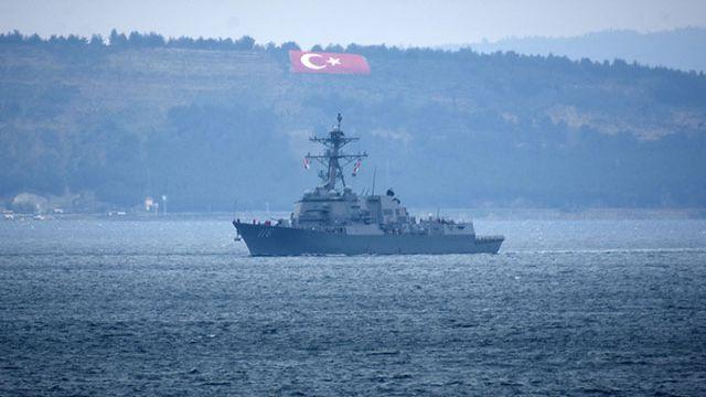 ABD savaş gemilerinin Karadeniz'e geçmeyecek