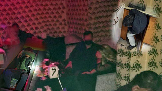 Eğlence mekanında kanepe ve dolaba saklanırken yakalandılar