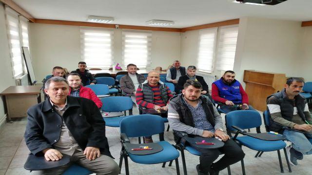 Seydişehir esnafına yeterlilik belgesi eğitimi