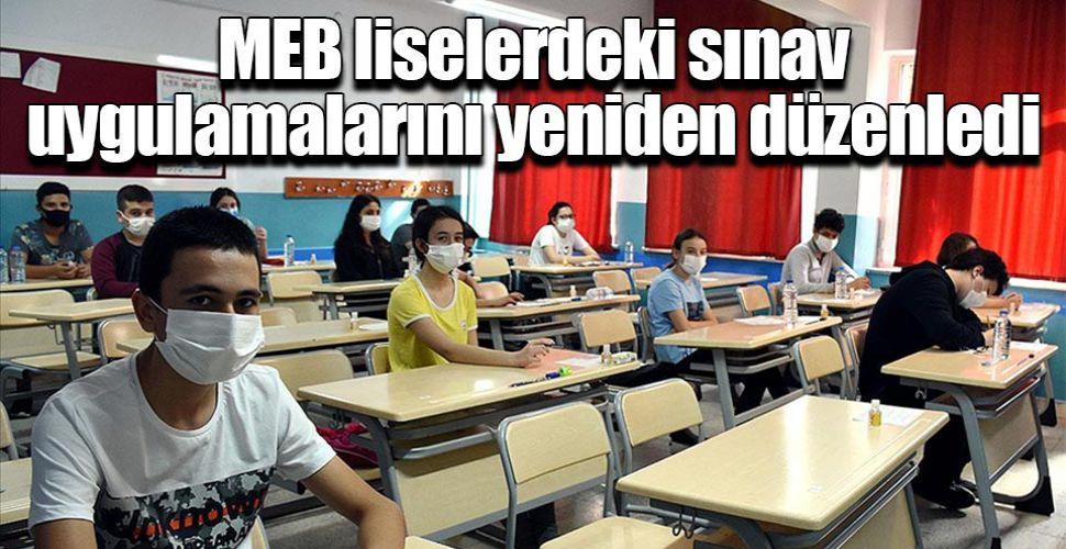 MEB liselerdeki sınav uygulamalarını yeniden düzenledi