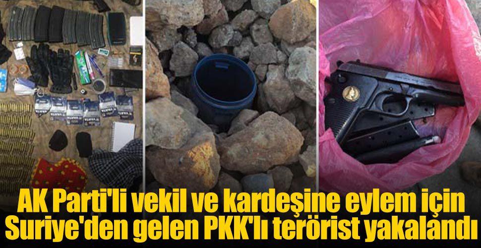 AK Parti'li vekil ve kardeşine eylem için Suriye'den gelen PKK'lı terörist yakalandı