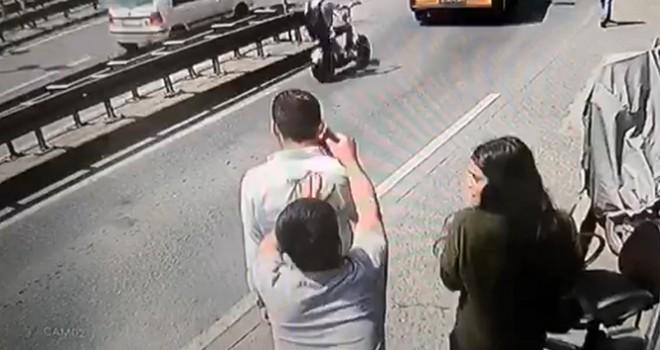Taksim'de kapkaç dehşeti
