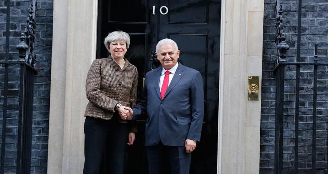 Başbakan Yıldırım ile İngiltere Başbakanı May bir araya geldi