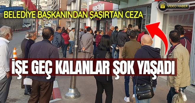MHP'li Başkan, işe geç gelen işçi ve memurları belediye almayarak kapıları kapattı