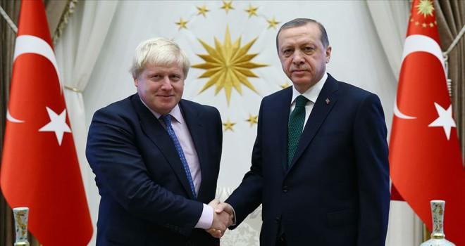 Erdoğan'dan Boris Johnson'a tebrik telefonu