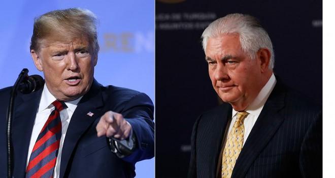 Trump ile Tillerson arasında karşılıklı sert sözler