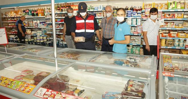 Halkapınar'da KOVİD-19 denetimleri yapıldı
